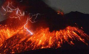 فوران آتشفشان در جزیره کیوشو ژاپن