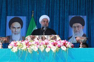 سخنرانی روحانی در جمع مردم رفسنجان