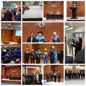 عکس/ حضور ظریف در دانشگاه نورسلطان قزاقستان