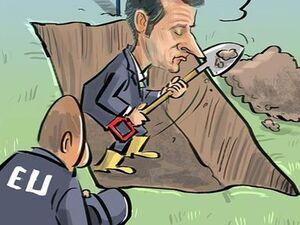 کاریکاتور/ مکرون: ناتو دچار مرگ مغزی شده است