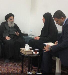دیدار  آیت الله سیستانی با نماینده دبیر کل سازمان ملل در عراق