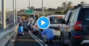 وحشت اسرائیلی ها از حمله موشکی به تل آویو +فیلم