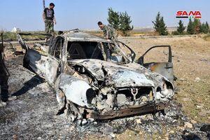 عکس/ منهدم کردن خودروی بمب گذاری شده در سوریه