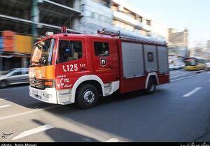 آتشسوزی در یک هتل ۳ طبقه در تهران +عکس