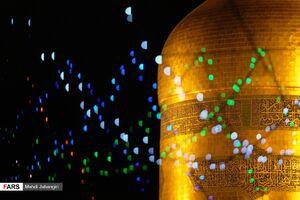عکس/ حال و هوای شب میلاد پیامبر(ص) در حرم مطهر رضوی
