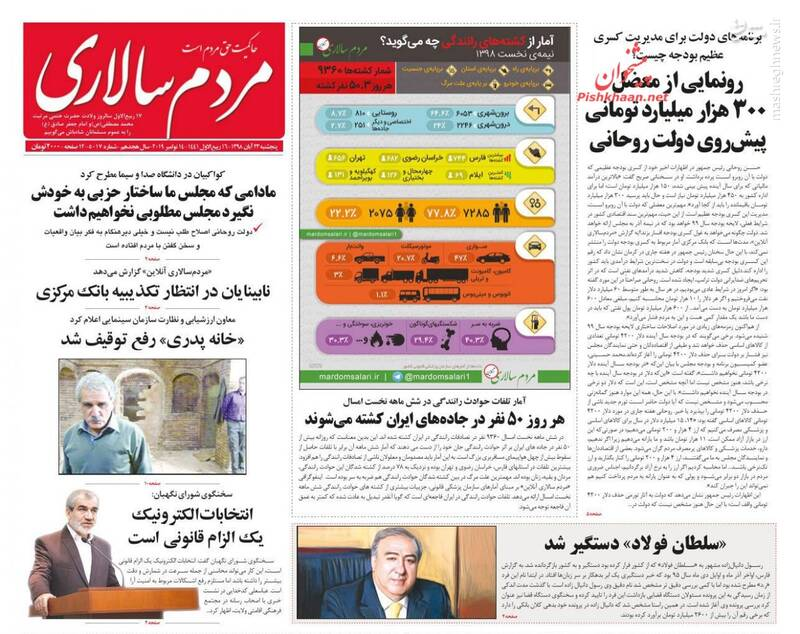 مردم سالاری: رونمایی از معضل ۳۰۰ هزار میلیارد تومانی پیش روی دولت روحانی