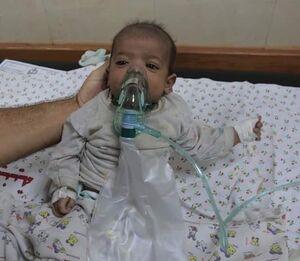 نجات نوزاد فلسطینی از بمباران رژیم صهیونیستی +عکس