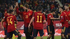نهمین برد متوالی ایتالیا، برتری پرگل اسپانیا