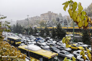 عکس/ وضعیت تهران با اولین برف پاییزی