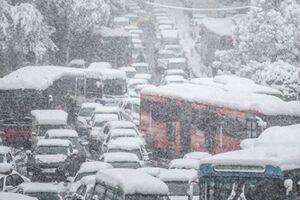برف ۲۰ سانتی متری داد شورای شهریها را درآورد