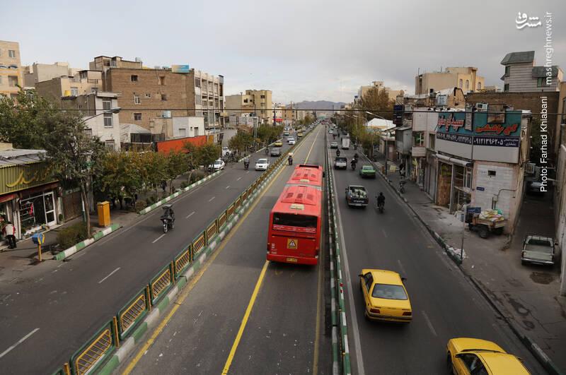 خیابان انقلاب حوالی میدان امام حسین(ع)