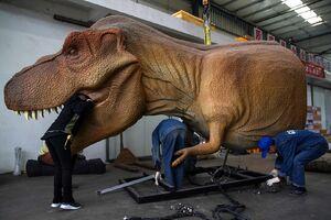 عکس/ کارگاه ساخت دایناسور