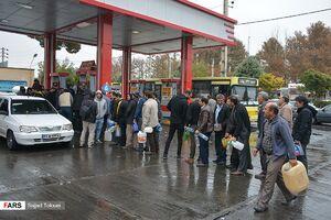عکس/ صف طولانی خودروها در «جایگاههای بنزین»