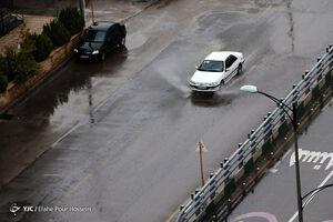 اولین باران پاییزی در شیراز