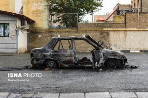 عکس/ خسارتهای وارد شده به اموال عمومی در کرج