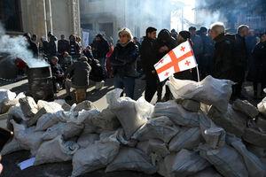 عکس/ تظاهرات ضددولتی در گرجستان