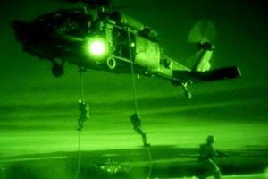 هلی برن نظامیان آمریکایی در حومه حسکه