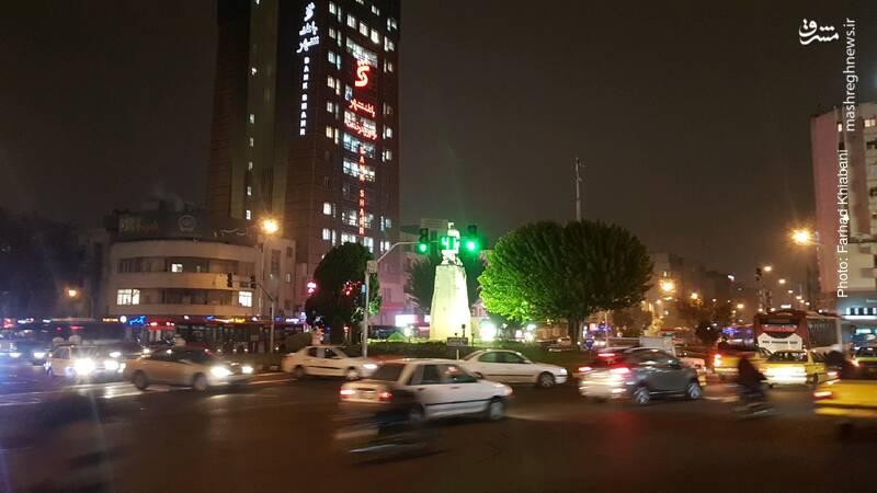 آرامش شبانه تهران در روز دوشنبه