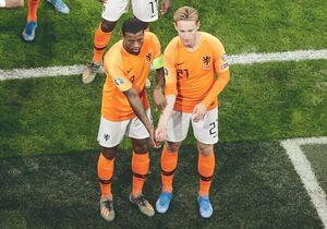 جهان تحت تاثیر شادی دو بازیکن هلند +عکس