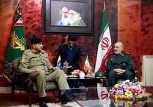 دیدار سرلشکر سلامی با فرمانده ارتش پاکستان