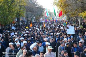 عکس/ خروش مردم اردبیل در محکومیت اغتشاشگران