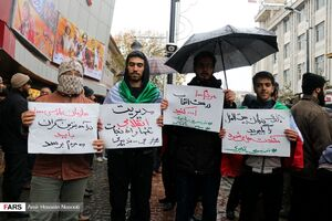راهپیمایی مردم در تبریز