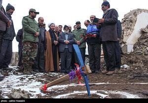عکس/ کلنگ احداث اولین واحد در مناطق زلزلهزده تبریز