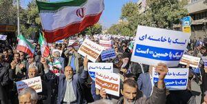 «نه» محکم شیرازیها به آشوبگران +عکس