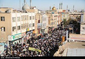عکس/ راهپیمایی برائت از اغتشاشگران در قم
