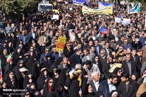 عکس/ برائت مردم شیراز از اغتشاشگران