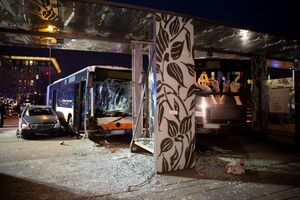 ورود مرگبار اتوبوس به ایستگاه راه آهن