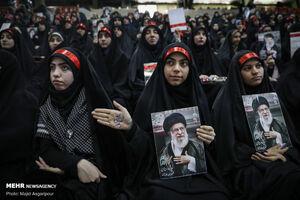 عکس/ گردهمایی جمعی از بسیجیان با حضور رئیسی