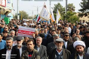 عکس/ راهپیمایی مردم سمنان در محکومیت اغتشاشگران