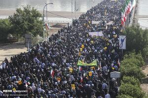 عکس/ قیام انقلابی اهواز علیه اغتشاشگران