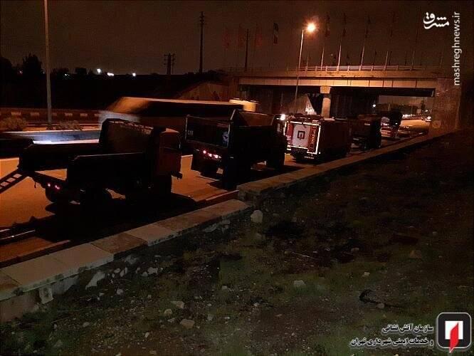 عکس/ واژگونی کامیون در بزرگراه فتح تهران