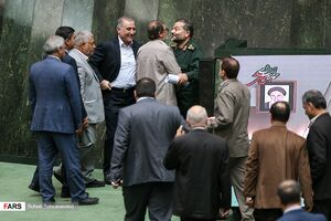 عکس/ حضور رئیس سازمان بسیج در صحن علنی مجلس