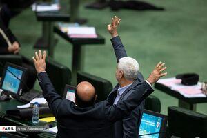 حضور رئیس سازمان بسیج در صحن علنی مجلس