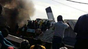 عکس/ سقوط هواپیما در کنگو با ۱۷ مسافر