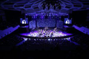 کنسرت موسیقی با چاشنی تبلیغات انتخابات