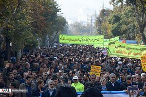 عکس/ تجمع «دفاع از اقتدار و امنیت» در کرمانشاه
