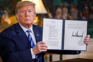 امضای ترامپ پای خروج از برجام - نمایه