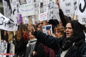 اعتراض گسترده فرانسوی ها به خشونت علیه زنان