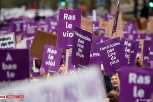 عکس/ اعتراض گسترده فرانسوی ها به خشونت علیه زنان