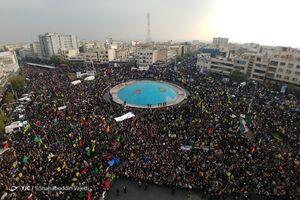 تصاویر هوایی از حضور پرشور مردم  پایتخت