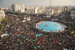 خروش مردم پایتخت در محکومیت اغتشاشگران