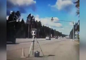 فیلم/ حمله دیوانهوار به دوربین کنترل سرعت