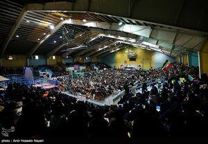 اجتماع ۱۰ هزاری نفر بسیجیان در قروین