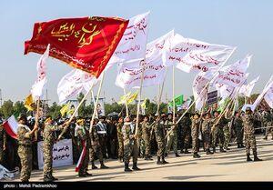اجتماع ۱۵ هزار نفری بسیجیان - خوزستان