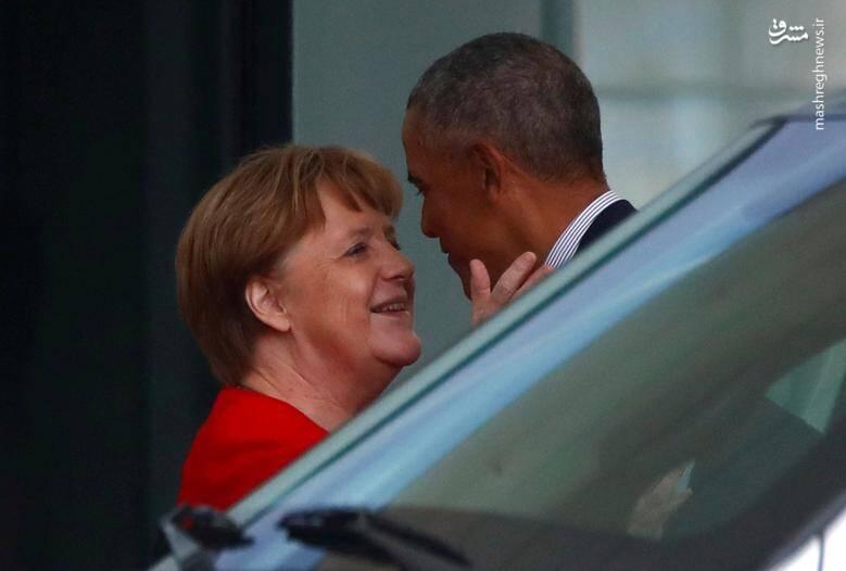 """دیدار """"باراک اوباما"""" رییس جمهوری سابق آمریکا با """"آنگلا مرکل"""" صدراعظم آلمان در مقر صدراعظمی در برلین/ 5 آوریل 2019"""