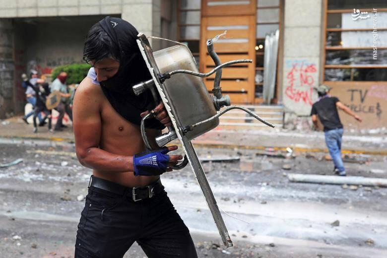 اعتراضات ضددولتی در شهر سانتیاگو شیلی/ 8 نوامبر 2019